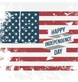 Happy Independence Day Ribbon on USA Flag vector image vector image