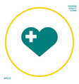 heart with medical cross graphic elements for vector image vector image