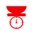icon sticker realistic design on paper kitchen vector image vector image