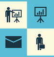 job icons set collection of envelope vector image vector image