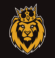lion in crown mascot vector image