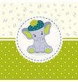 little elephant baby vector image