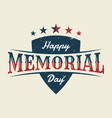 memorial day with shield background or banner vector image vector image
