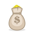 Money bag sign flat icon vector image vector image