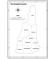 new hampshire state outline administrative map vector image vector image