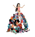 nothing to wear concept young attractive stressed vector image vector image