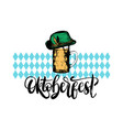 oktoberfest symbols for beer festival on blue vector image