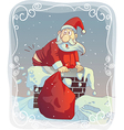 Overweight Santa Stuck in the Chimney vector image vector image