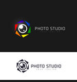 photo studio logo vector image vector image