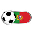 portugal soccer icon vector image