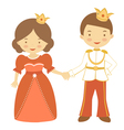 Prince and princess2 vector image
