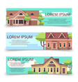 property advertising horizontal banners template vector image