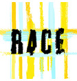 race lettering image vector image