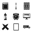realize icons set simple style vector image vector image