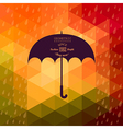 Retro umbrella symbol on hipster background made vector image vector image