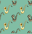 sax seamless pattern vector image