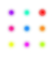 Set of Circle Colorful square Dot Banners Noisy vector image