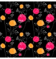 Sunset meadow seamless pattern vector image vector image