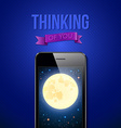 Thinking of You Romantic poster with night scene vector image