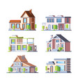 townhouse cottage colorful flat vector image