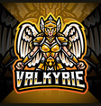 valkyrie esport mascot logo design vector image vector image