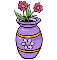 vase with flowers clip art cartoon vector image