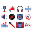 volume and audio icons vector image