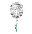 Conceptual birthday words as balloon vector image