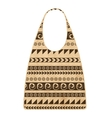 Paper shopping bag with ethnic ornament for your vector image