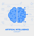 artificial intelligence concept trendy linear vector image