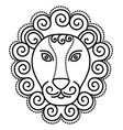 astrological leo sign symbol lion with mane vector image