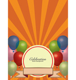 Balloons Colors with Banner Background vector image vector image