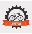 Bike and cyclism graphic design vector image vector image