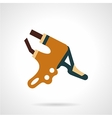 Bike brake lever flat icon vector image vector image