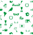 brazil icons and symbols seamless pattern eps10 vector image