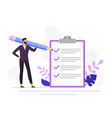 businessman checklist control business checklists vector image