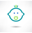 Cartoon cute baby with pacifier vector image