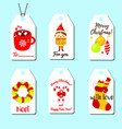 christmas and new year gift tags shopping and vector image vector image