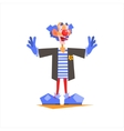 Circus Blue Clown Performing vector image vector image