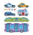 city transport colorful flat vector image vector image