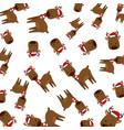 cute reindeer christmas character pattern vector image vector image