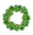 decorative tropical jungle foliage circle wreath vector image