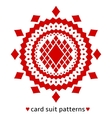 Diamond card suit pattern vector image vector image
