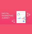digital marketing agency modern business banner vector image vector image