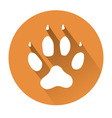 dog paw print vector image vector image