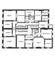 double flat floor plan two bedroom apartments vector image vector image