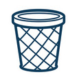 dustbin or circle container for garbage silhouette vector image vector image