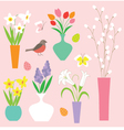 easter flowers vector image vector image