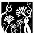 fantastic beautiful flowers vector image vector image