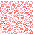 female lips hearts seamless pattern vector image vector image